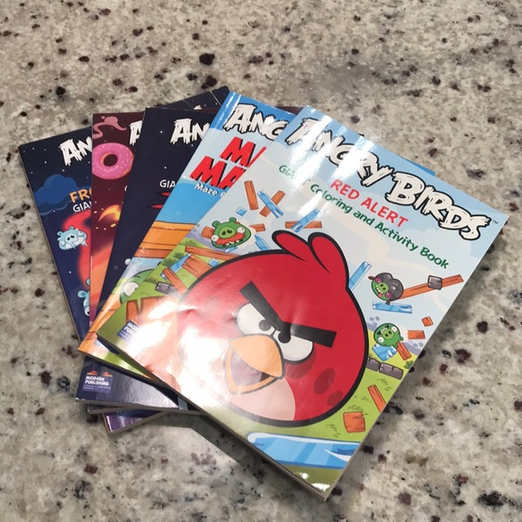 - Angry Birds Other Nwot Coloring Books Poshmark